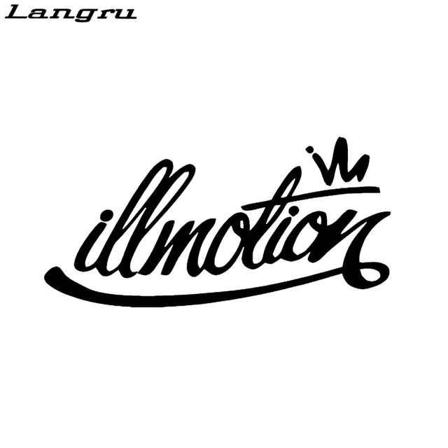 Langru new design art letter euro racing illest car sticker motorcycles car styling waterproof vinyl decal