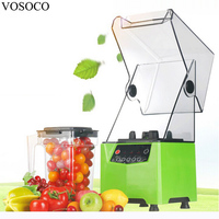 VOSOCO Blender Mixing Machine Ice Crusher With Sound Insulation Cover Stir Milkshake Soybean Milk Juicer 1000W