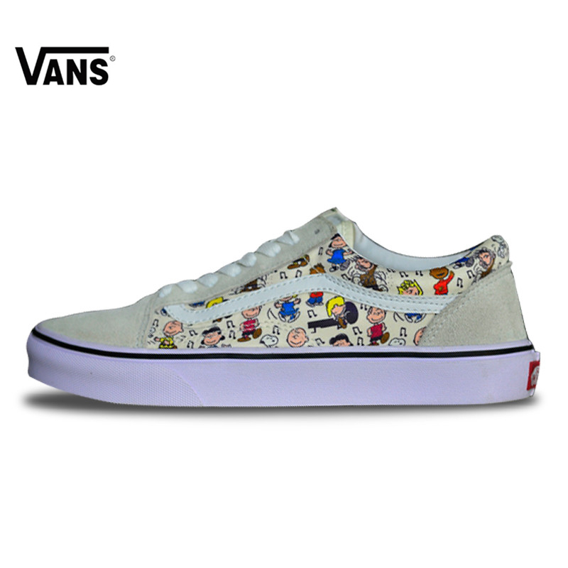 b9ba99a5d93a Vans Original New Arrival Women s Classic Old Skool Low-top Canvas  Skateboarding Sneakers CK-25 36-39