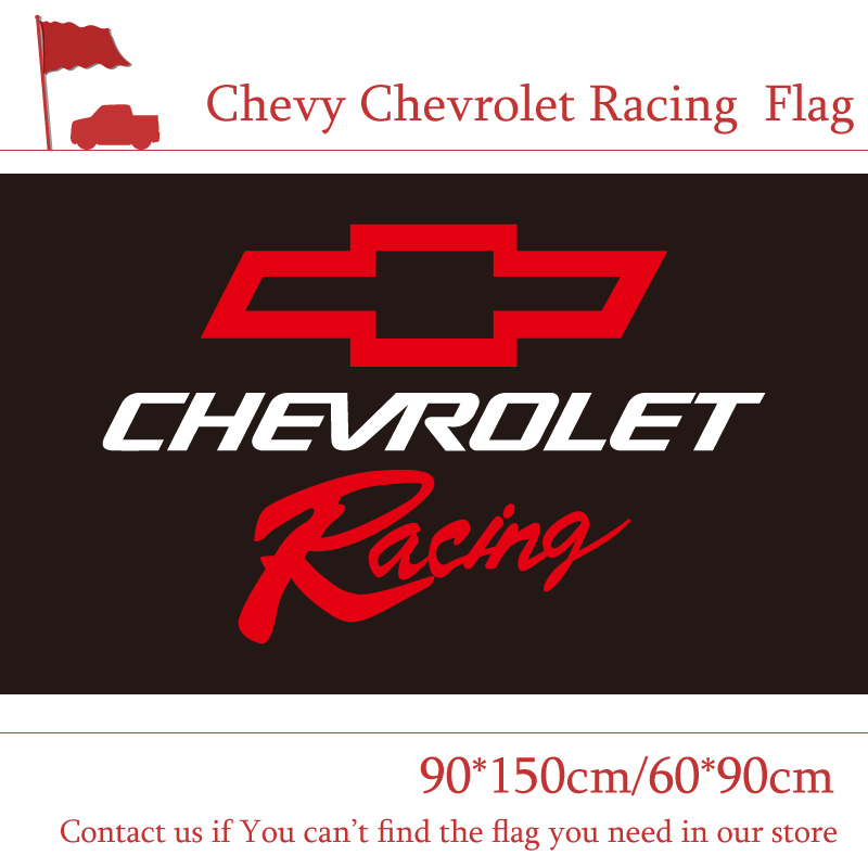 Chevy Chevrolet Racing Flag 3x5ft Custom Banner 90x150cm ...