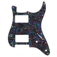 Yibuy 2.4mm HH Humbucker Pickguard for Electric Guitar Multicolor 11 Holes
