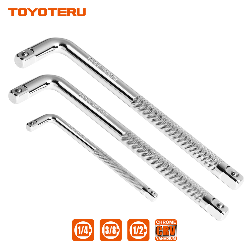 TOYOTERU 1/4 3/8 1/2 L Type Heavy Drive Socket Wrench High Quality Chrome Vanadium Steel Bent Rod Wrench Hand Tools torque wrench set of 3pc socket 24 teeth ratcheting wrench 1 4 3 8 1 2 chrome vanadium llaveros dremel licota wrench