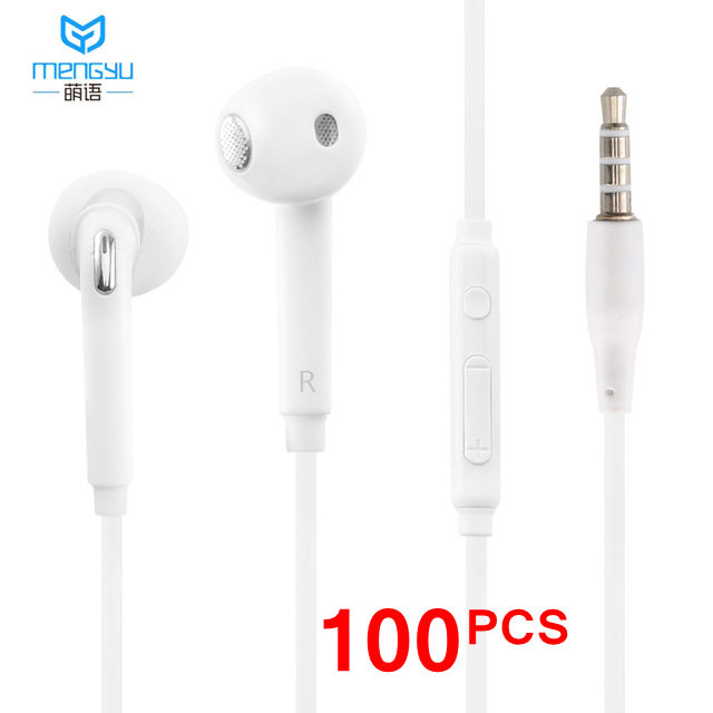 100PCS 3 5mm Stereo Music Headphones Portable Earphone Wired In Ear Headset no bluetooth with Microphone