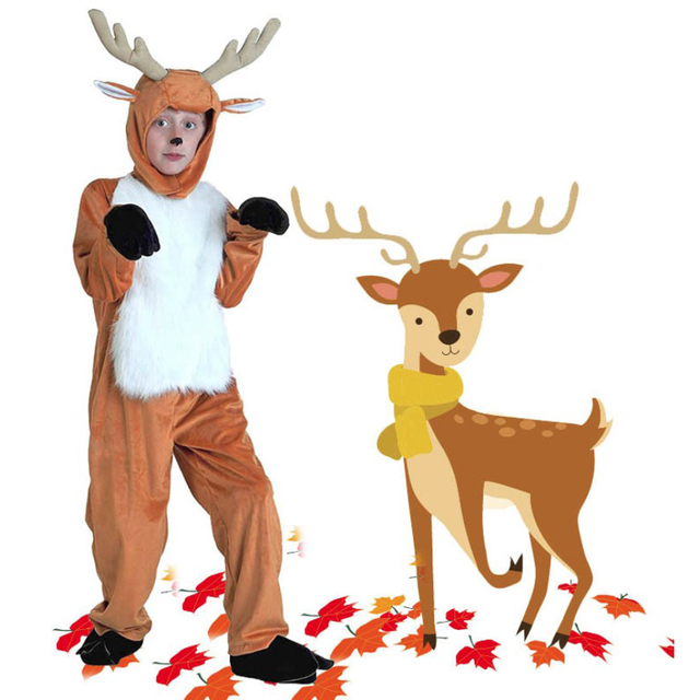 5a215c4484e US $33.04 20% OFF|KTLPARTY Hot New Cosplay Party Halloween Costume Cartoon  Animal Christmas boy reindeer Deer costumes for Children Adults baby on ...