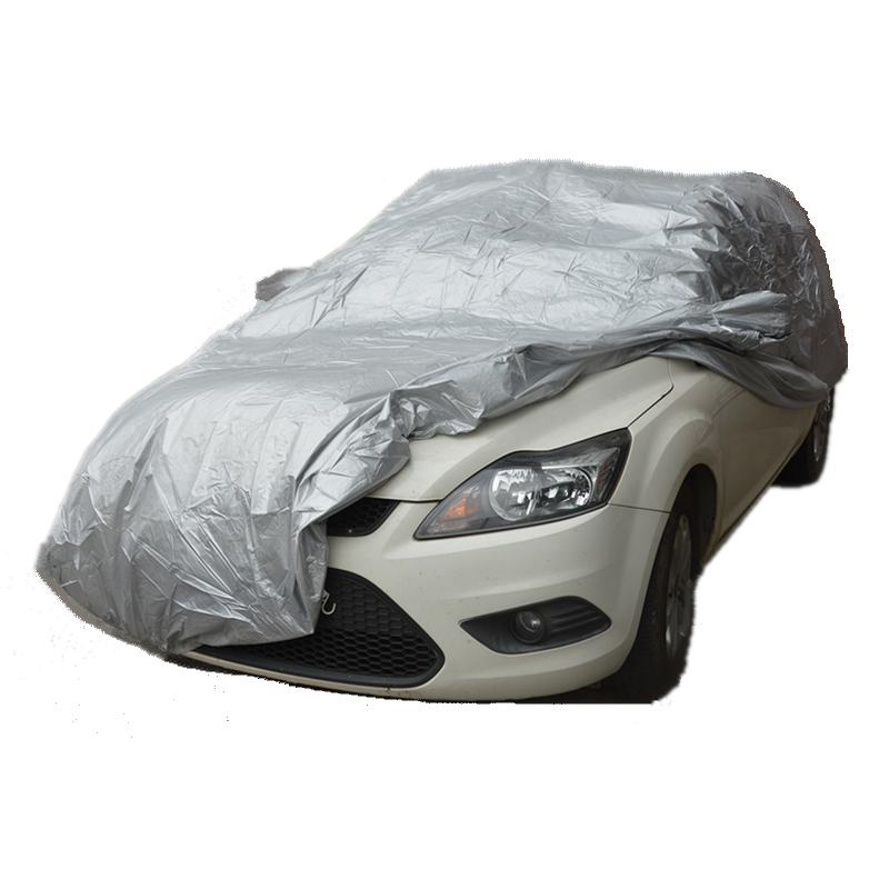 Prix pour Voiture couvre Taille S/M/L/XL SUV L/XL Étanche Pleine Couverture De Voiture Soleil UV Poussière de neige Pluie Résistant Protection Gris livraison gratuite