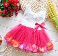 Todo Tipo De Moda de Primavera y Verano Muchachas Del Niño Del Bebé Niños bebe dress princess party boda recién nacido grande bow lace dress ropa