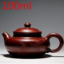 3 Tassen Tee Bonus YiXing Zhisha Teekannen 100 ml Tee-Set chinesische Authentischen Handmade Ton Teekanne Mit Geschenkkasten Freies verschiffen