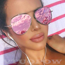Luxury Aviation Sunglasses Women Brand Designer 2020 Cheap Purple Shiel