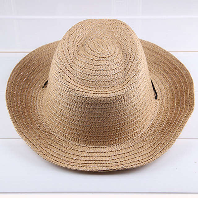 placeholder Summer Autumn 54cm Children Caps Cowgirls Cowboy Hats for Kids  Stars Pattern Straw Caps with Cable 20d65c1a5681