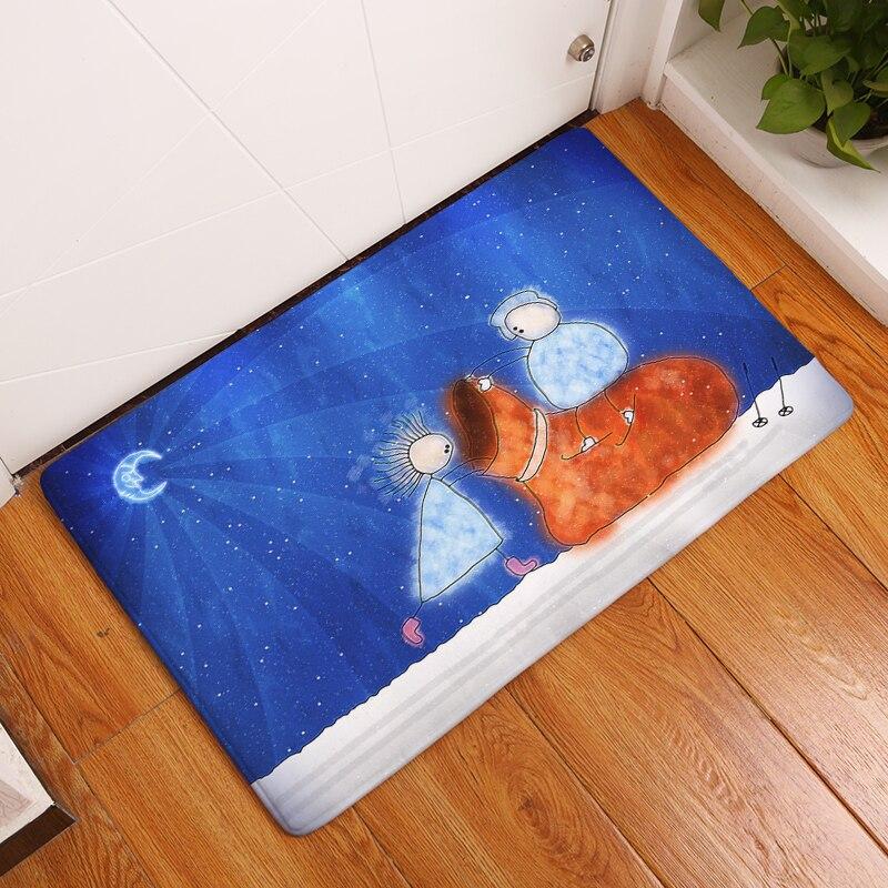 homing dustproof light thin decoration stair mats funny cartoon