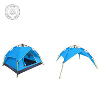 Dual purpose tent full automatic spring pressure 3 4 person leisure family camping outdoor tent Hiking, hiking, camping