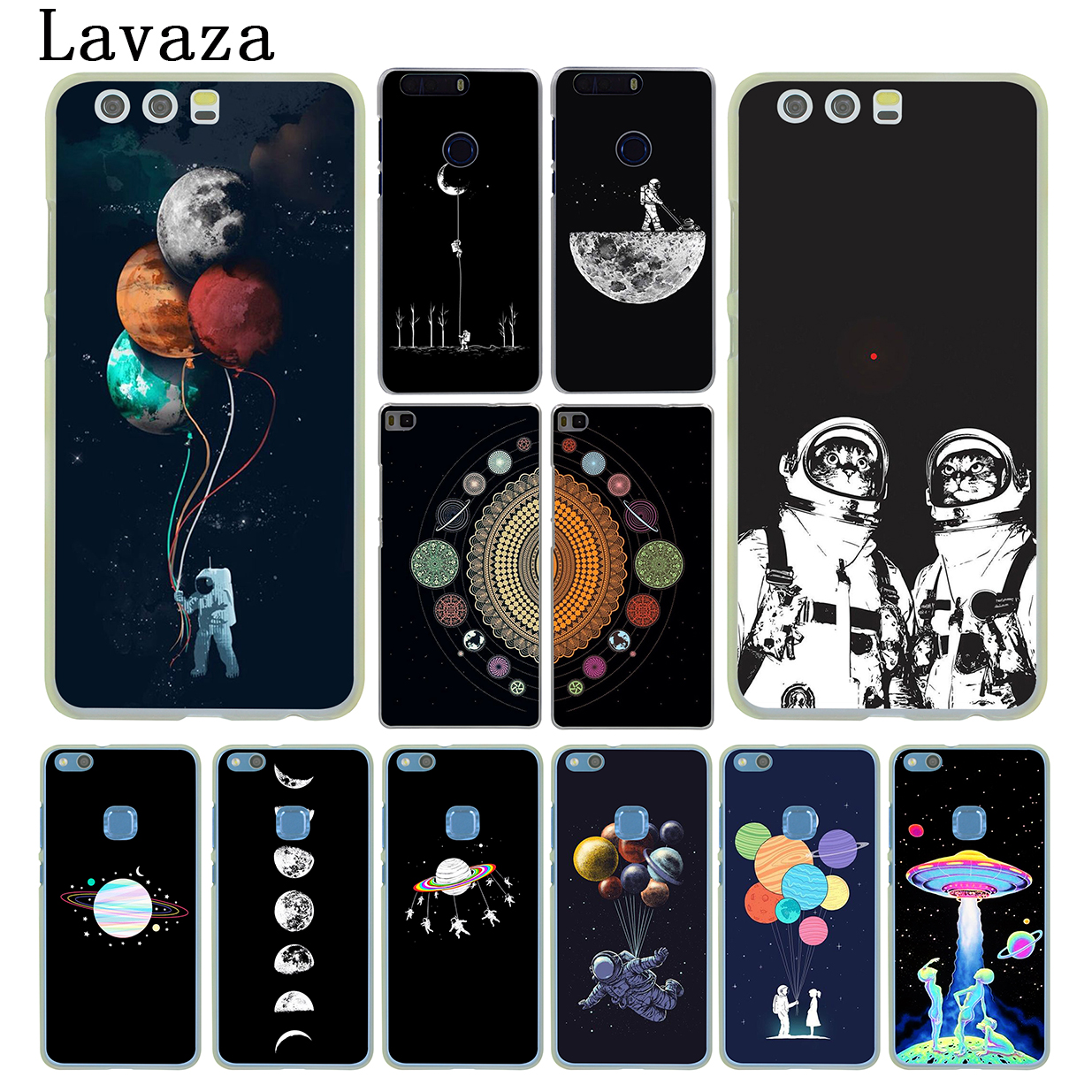 Half-wrapped Case Phone Bags & Cases Useful Space Love Moon Astronaut Smart Mobile Cases For Huawei Mate 7 8 9 10 20 P8 P9 P10 P20 P30 Lite Plus Pro 2017 Pretty And Colorful