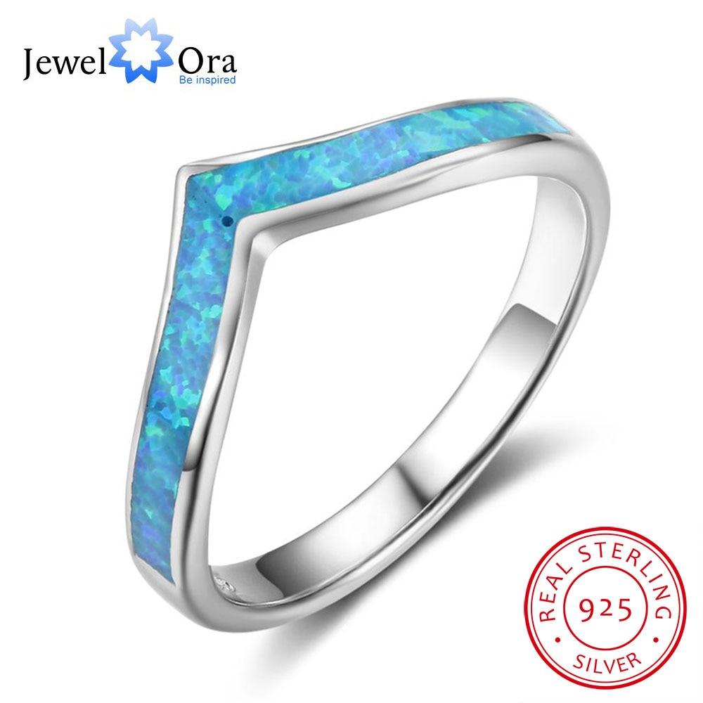 Real Simple 925 del ópalo azul piedra dedo Anillos océano estilo mujer joyería regalo para la amistad (jewelora ri102844)
