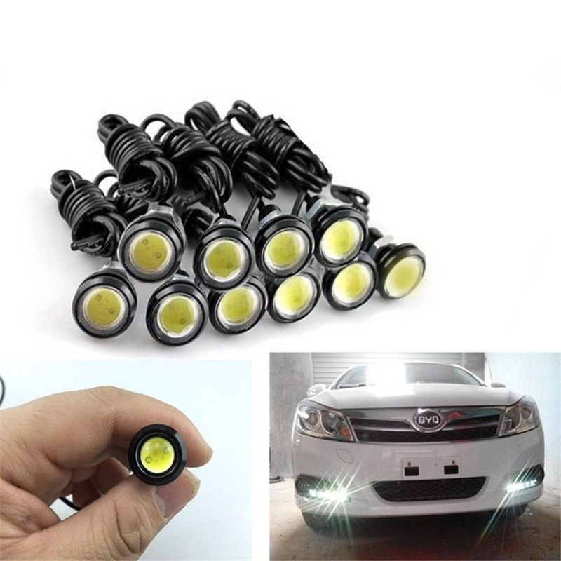 10pcs DC12V 23mm Eagle Eye DRL LED Car Light Source Daytime Running Driving Work Lamp Waterproof Fog Parking Bulbs Free Shipping