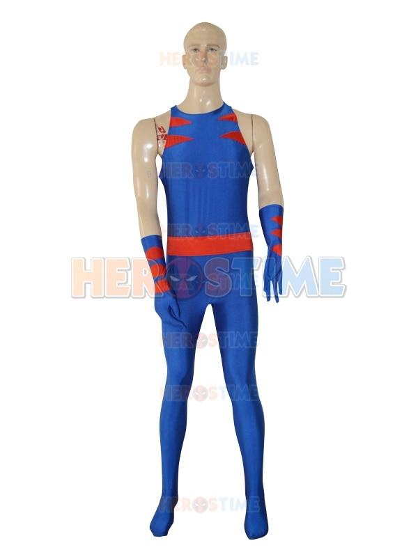 Royal Blue X-Men Costume Hot Sale Superhero Jumpsuit Zentai Suit For Adult Free Shipping