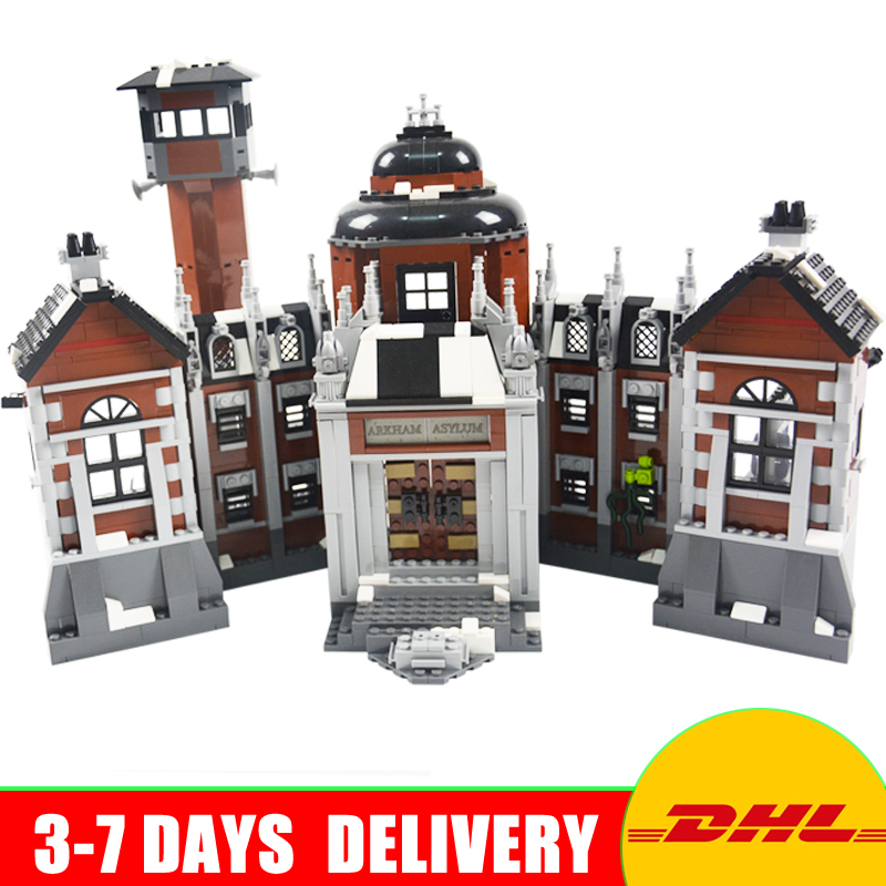 New 1628Pcs Lepin 07055 Genuine Series Batman Movie Arkham Asylum Building Blocks Bricks Toys with 70912 gift a toy a dream new decool 7124 genuine series marvel batman movie arkham asylum building blocks bricks toys with