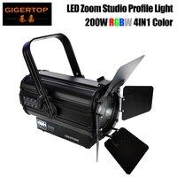 Freeshipping 200W Led Zoom Profil Licht COB RGBW 4IN1 Farbe RDM DMX512 Control 16 Bit Dimmen Farbe Kalibrierung System TP 028|light disco|led movingmoving head -