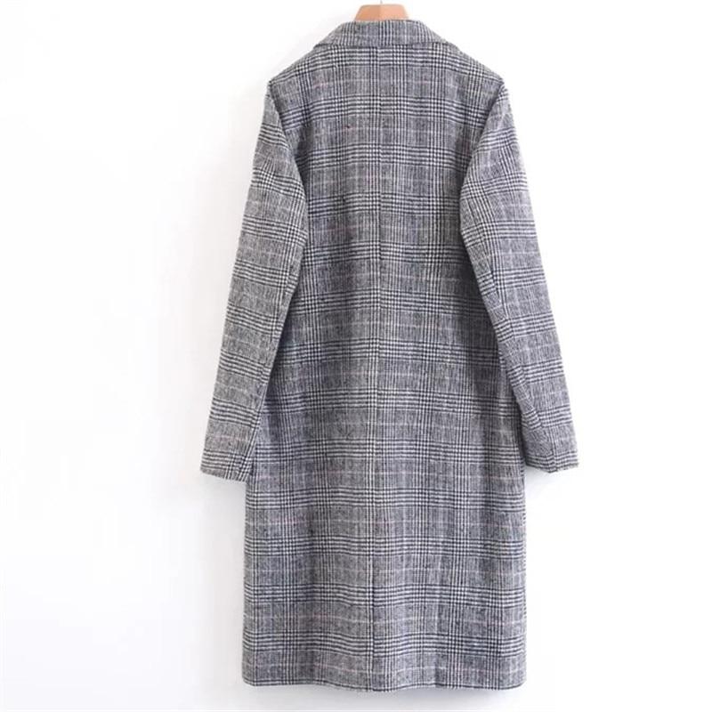 Mode Manteau Haute 2018 De Kaki Streetwear Élégant Longue Vêtements Laine Qualité Toyouth Nouveau Femmes Causalité Pardessus Lâche Vintage wStawq