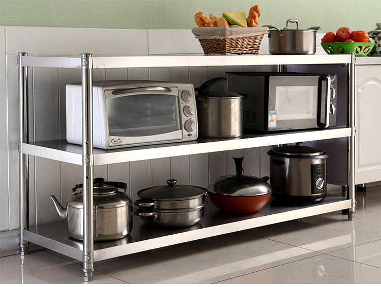 Stainless Steel Kitchen Work Food Prep Table Pot Pan Hanger ...