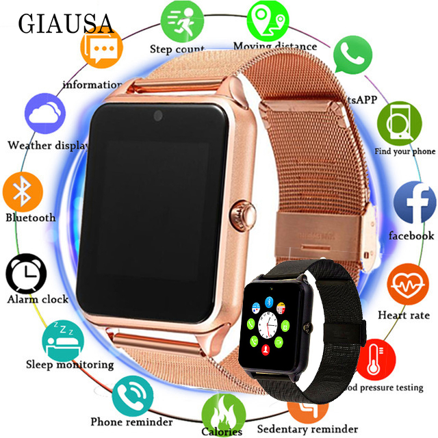 Z60 relógio inteligente gt08 além de pulseira de metal bluetooth pulso smartwatch suporte da câmera sim tf cartão android & ios pk y1 s8 x7d dz09 v8 a1