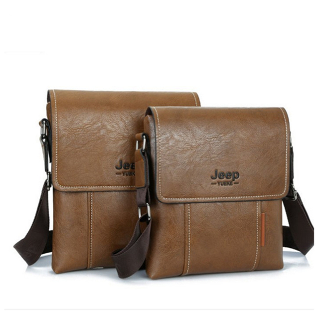 927508f0c0 2018 New Men leather famous brand JEEP Messenger Bags Fashion Casual  Business small Shoulder bags for man