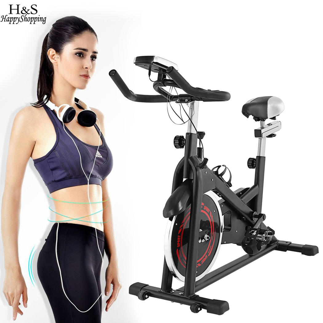Ancheer New Aerobic Exercise Bike indoor bike Aerobic Cardio Training Exercise Bike Home Gym Fitness Indoor Cycling Bike road bicycle exercise fitness station indoor training station mtb bike trainer folding roller training tool 3 stage folding