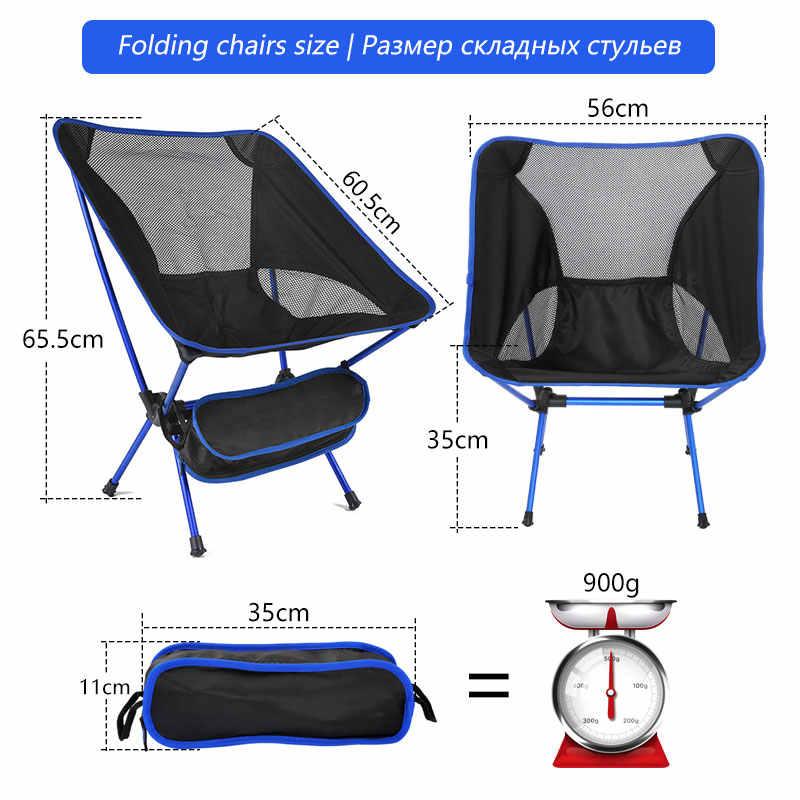 Portable Folding Fishing Kursi Camping Kursi Kursi 600D Oxford Kain Aluminium Memancing Kursi untuk Outdoor Piknik BBQ Kursi Pantai
