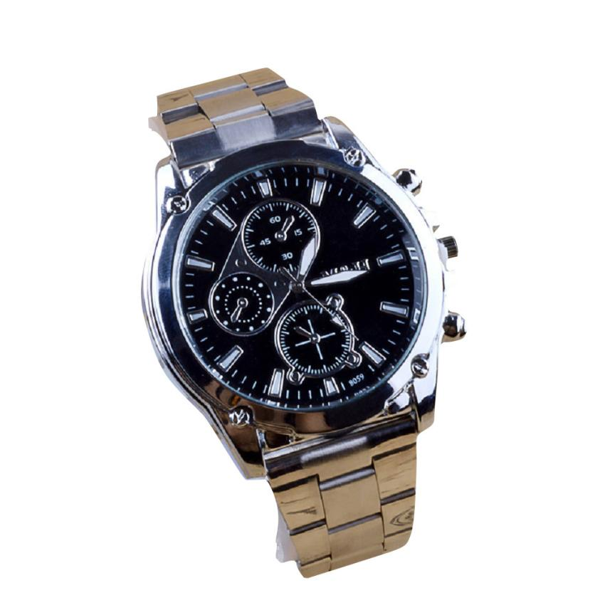 Men's Watch 1PC Business About Men Stainless Steel Band Machinery Sport Quartz Watch drop shipping 2018JUL9