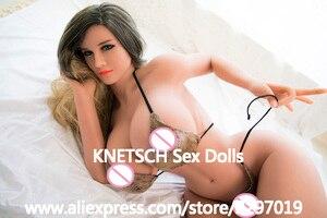 Image 3 - KNETSCH 169 см силиконовые секс куклы с большой грудью и большой попой, реалистичные секс игрушки для мужчин, Реалистичная вагинальная настоящая Вагина, анальные сексуальные куклы