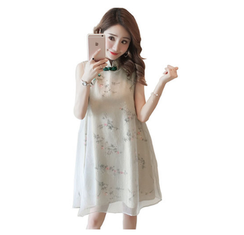 Summer Qipao Chinese Traditional Women Dress Retro Cheongsam Maternity Dresses Fashion Clothes For Pregnant Woman Z789