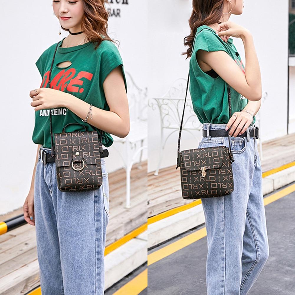 Ocardian Casual Women Daily Fashion Letter Partten Messenger Bag Shoulder Bag Coin Bag Phone Bag L S size JU 06