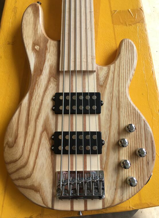 6 string fretless Active Electronics bass guitar neck through body bass guitar цены