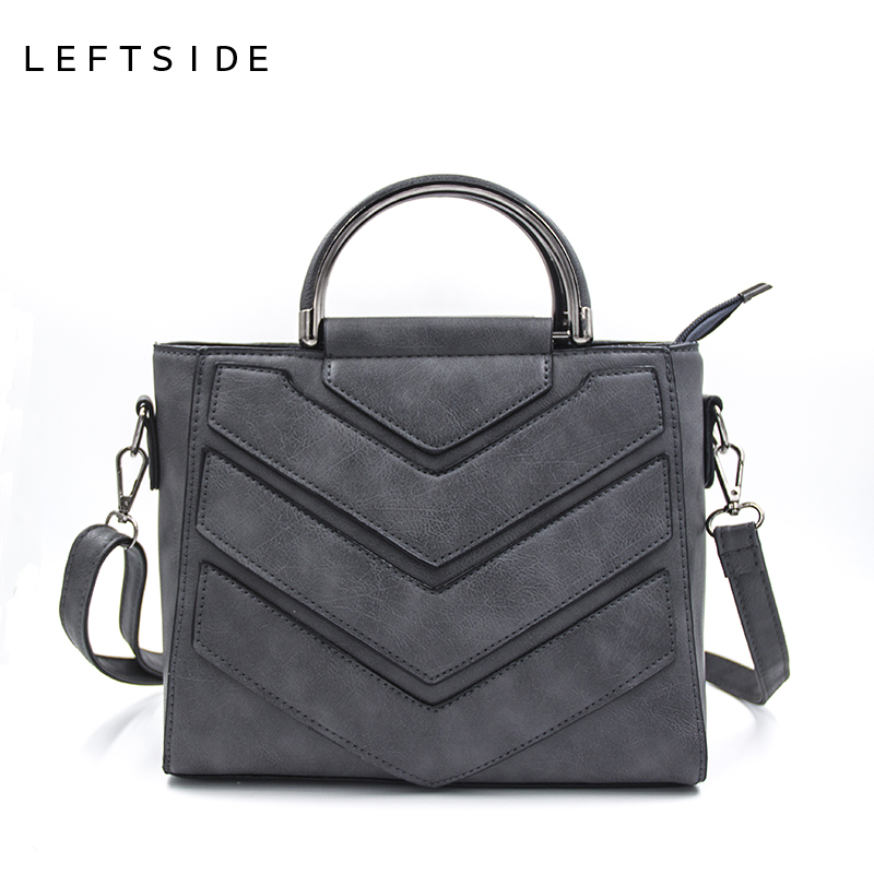 LEFTSIDE New Vintage Black PU Women Leather Handbags Designer Women Messenger Bags Crossbody Shoulder Bag hand Totes For Ladies [zob] supply of new original omron omron limit switch wlca12 2 q 2pcs lot