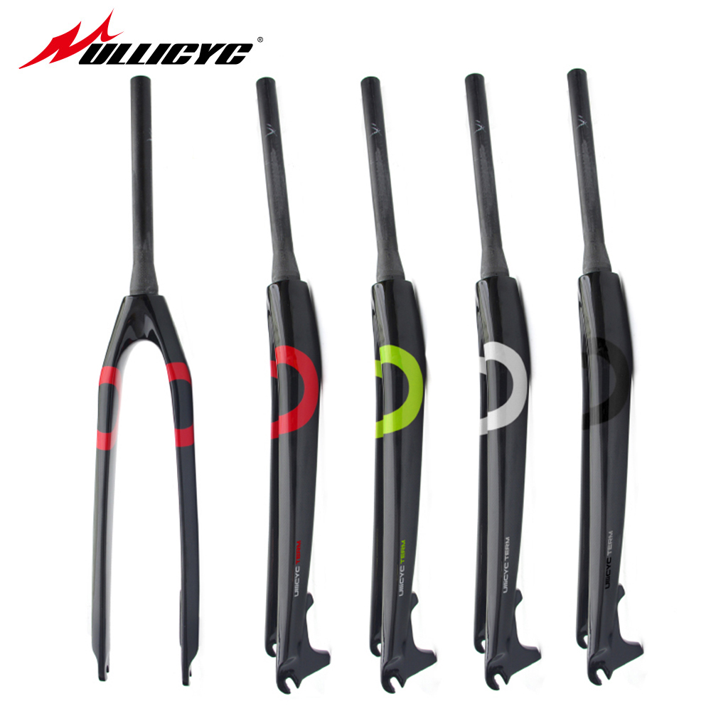 New Ullicyc  ring Mountain bike  full carbon fibre hard bicycle disc brake front fork MTB 26er 27.5er 29er parts Free ship QC575 5 times co2 galvo system beam expander for laser marking machine laser beam expander