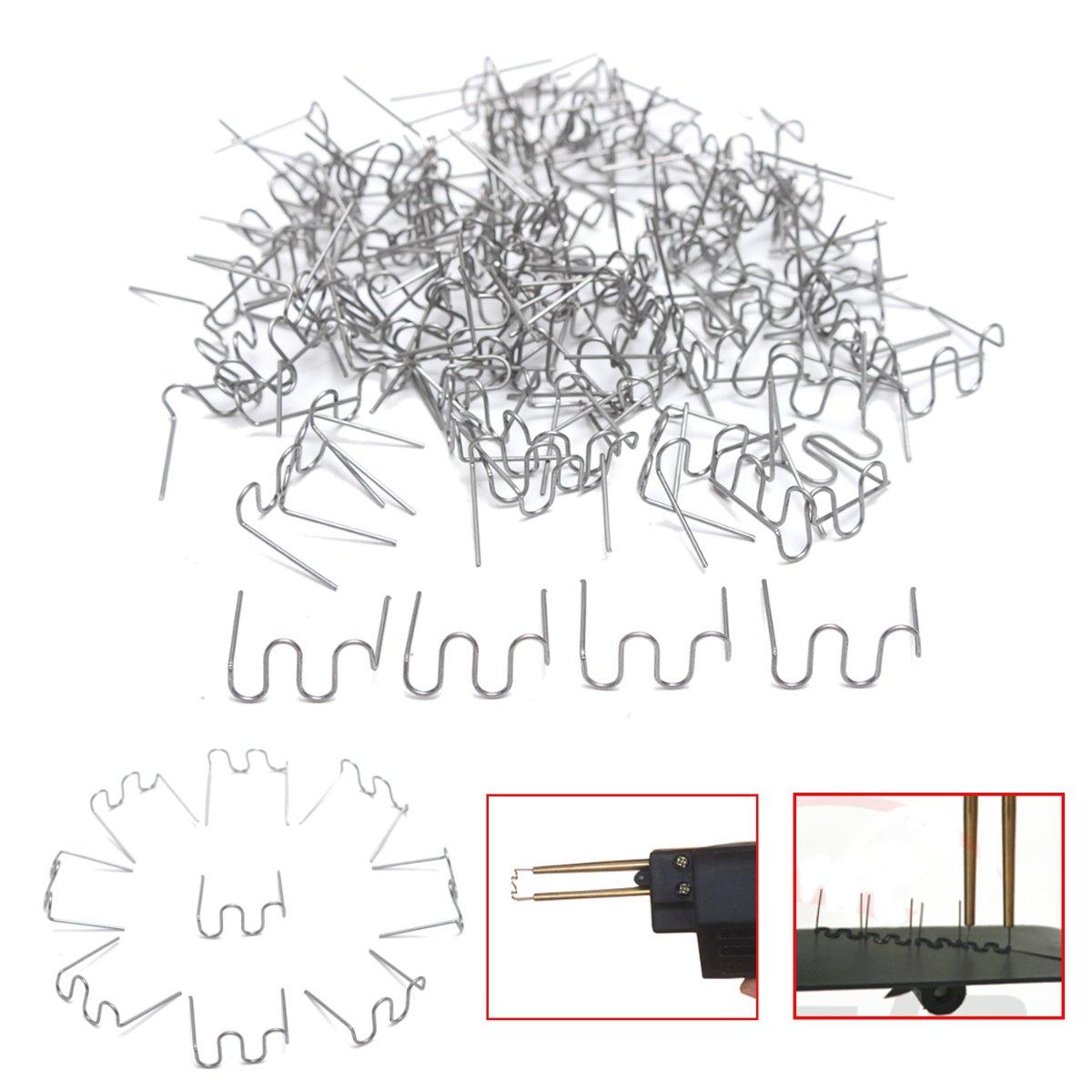 100x0.6 мм Скобы thermo Пластик Ремонтный комплект для Горячие Степлер автомобиля бампер для Fender сварщик