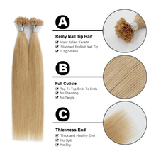 16″ 18″ 20″ Remy U Tip Human Hair Extension 100% Europen Human Keratin Pre Bonded Hair Extension 50s/pac