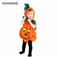 Free Shipping Boys Girls Kids Pumpkin Costumes Halloween Christmas Carnival Fancy Dress For Children Masquerade Cosplay