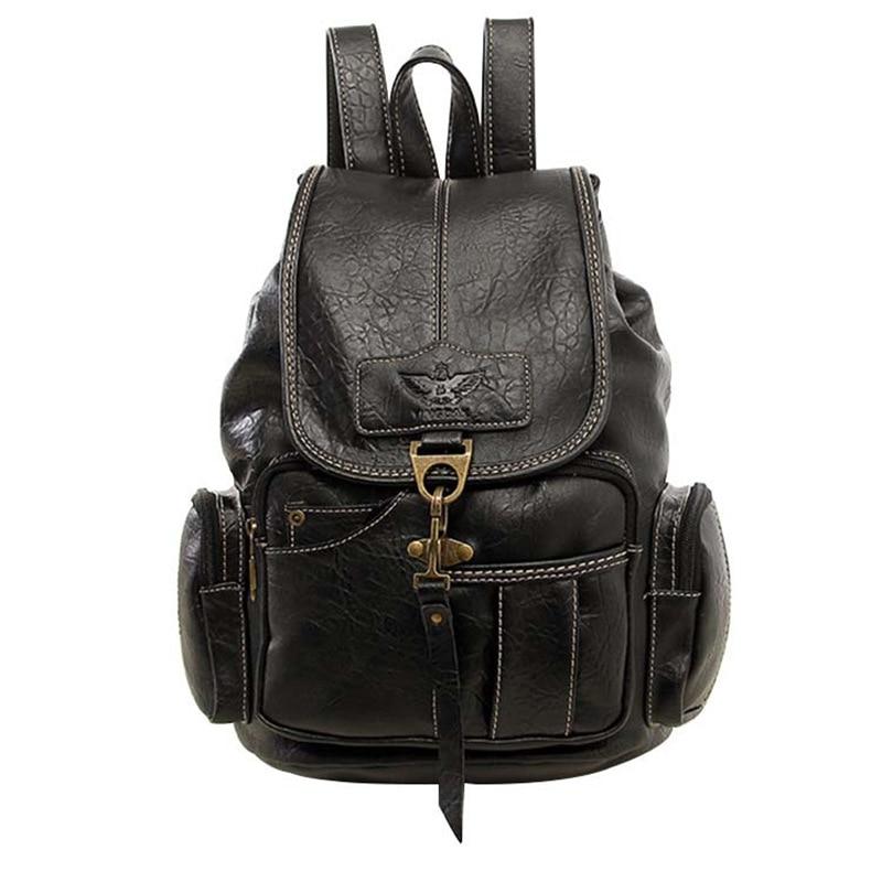 Women Backpack Vintage Backpacks for Teenage Girls Large Black School Bag Shoulder Bag Travel Rucksack Mochila