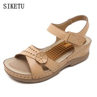 SIKETU Fashion Woman Sandals 2017 Summer Shoes Women Casual Comfortable Wedges Open Toe Sandals Women S