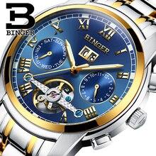 Suisse BINGER montres hommes marque de luxe Tourbillon saphir lumineux multiples fonctions Mécanique Montres B8601-10