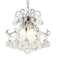 Ganeed lustres  3-light lustre de cristal moderno  montagem embutida luminárias para sala de estar quarto escritório