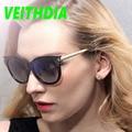 2017 veithdia mulheres logotipo da marca original hd óculos polarizados condução óculos de sol acessórios óculos vintage retro óculos tr90 7016