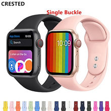 CRESTED רצועת עבור apple watch להקת apple watch 4 3 iwatch להקת 42mm 38mm קוראת 44mm/40mm pulseira צמיד שעון אביזרי 42(China)