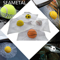 Car-styling 3D Bola Etiqueta Etiquetas Engomadas Del Cuerpo Completo Loco Divertido Broma Pelota Golpea Tenis Fútbol Baloncesto Roto Ventana De Cristal etiqueta