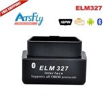 Black MINI Bluetooth ELM327 V 2.1 OBD2 / OBDII Black ELM 327 V2.1 Car Code Scanner
