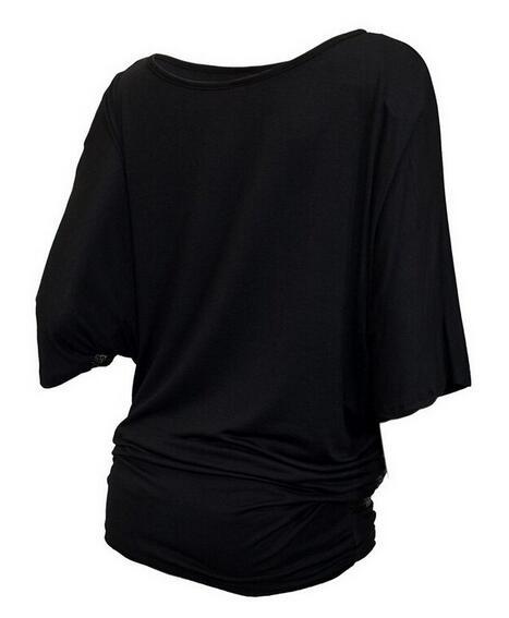 Tops pomlad 2019 nova modna seksi rokava majica z izrezom O-vratu s - Ženska oblačila - Fotografija 6