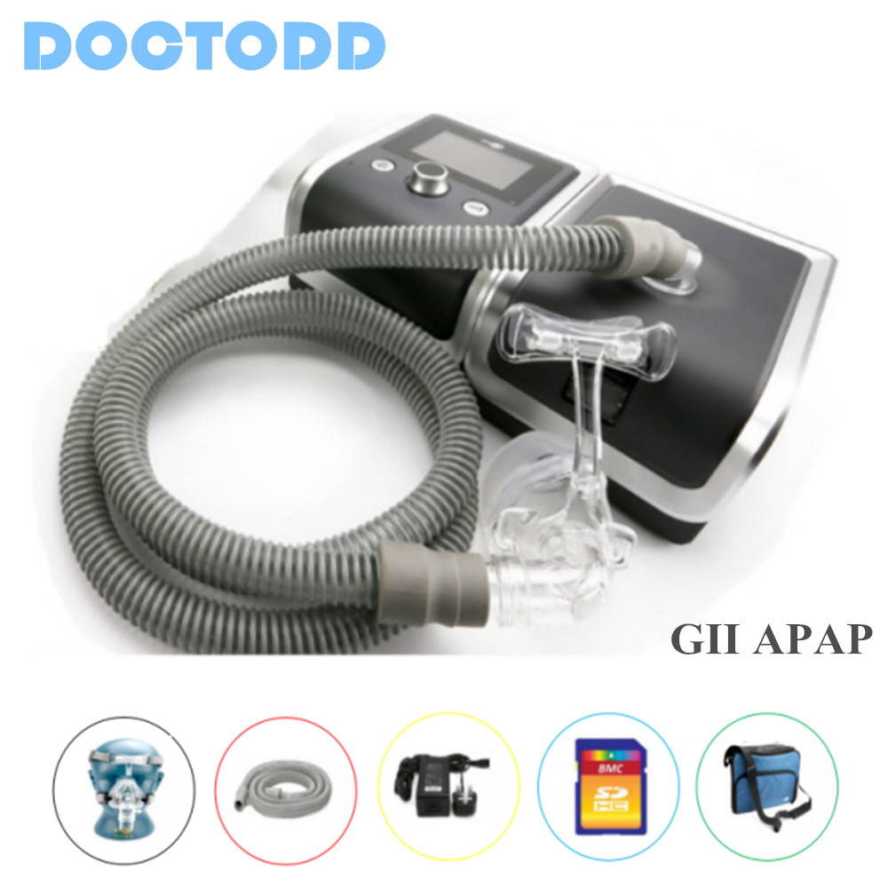 Doctodd GII BiPAP T-25AHO RESmart Bi-Llevel CPAP Protable Medical BPAP Device With Humidifier and Sleep Mask Sleep Apnea Therapy doctodd gii bpap t 20s cpap machine w free mask humidifier and spo2 kit respirator for apnea copd osahs osas snoring people