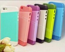 Для iPhone5S ТПУ + Крышка ПК Для Apple iPhone 5 5S SE Случае случаи Телефон Оболочки Нового Прибытия 2in1 Конфеты Многоцветный Флип Задняя Крышка