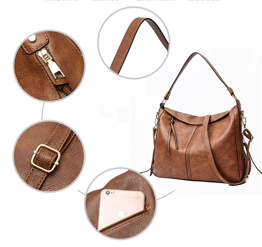 Luxury Handbags Women Shoulder Bag Large Tote Bags Hobo Soft Leather ... 30dfa2f4f797e