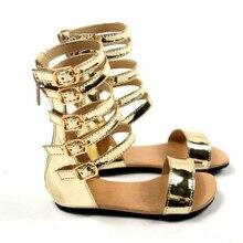 Fashion summer Girls Roman sandals Handmade Baby sandals Kids shoes